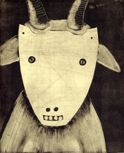 Goat with Goat Mask