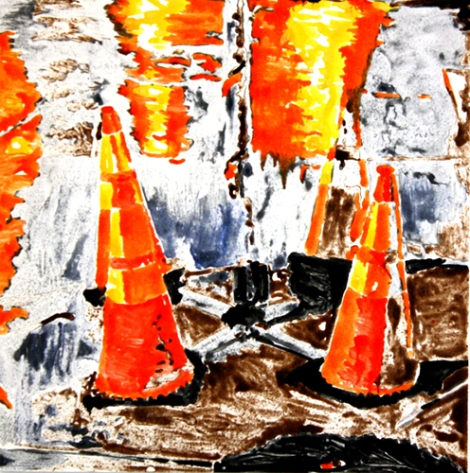 Klee.Traffic Cones III