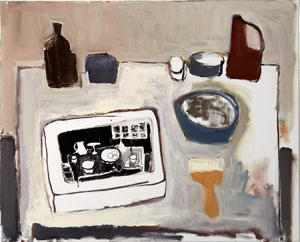 """Litho Studio Still Life...Preparing the Stone"""