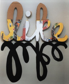 "Jodi Waltier, Like This or Like This, 2015. Recycled cardboard 48""x46""x3"""