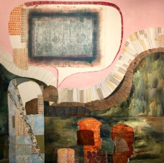 "Jodi Waltier, Hell's Ravine, 2017. Paint on paper, 48""x48""x2"""