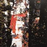 Karen Klee-Atlin, Blazed Birch - White and Black, (2018). Reductive linocut on paper, 20 x 20 in.