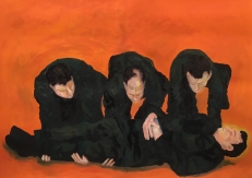 Karen Klee-Atlin, Procession, (2018). Monoprint on paper, 46 x 36 in.