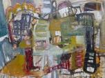 Anna Macrae, Gentrification (2016). Oil canvas 40x30 in.