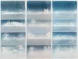 Salt Print Installation, 72x72, Monoprints