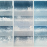 Salt Print Installation, 72x72, Monoprints