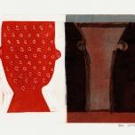 Red Colander / Vase