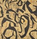 Cynthia Hibbard, Swirls 1, Oil-based linocut with oil stick, 30x22, Unframed, 2020, $400