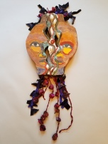Barbara Shaiman and Marita Dingus, Friendship 1, glazed stoneware and mixed media, 34x14x3, 2020, $1700