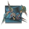 David Traylor, Zanni -Blue Square Three, acrylic on board, 20x20x3, 2020