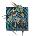 David Traylor, Zanni -Blue Square Two, acrylic on board 20x20x3, 2020.