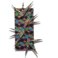 David Traylor,Zanni Harlequin Two, acrylic on board, 22x10x3, 2020,
