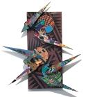 David Traylor,Zanni-Purple Rectangle Three, acrylic on board, 22x10x3, 2020,
