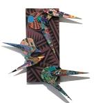 David Traylor, Zanni-Purple Rectangle Two, acrylic on board, 22x10x3, 2020,