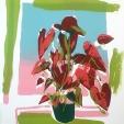 Colleen Maloney, Greenhouse Valentine #2, Serigraph, 7.5x9.5, 2019, $200, contact: platinum64@icloud.com