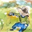Robin Arnitz, ffffff, acrylic and ink on paper, 6x4, 2020, $75, contact: robin.arnitz@gmail.com