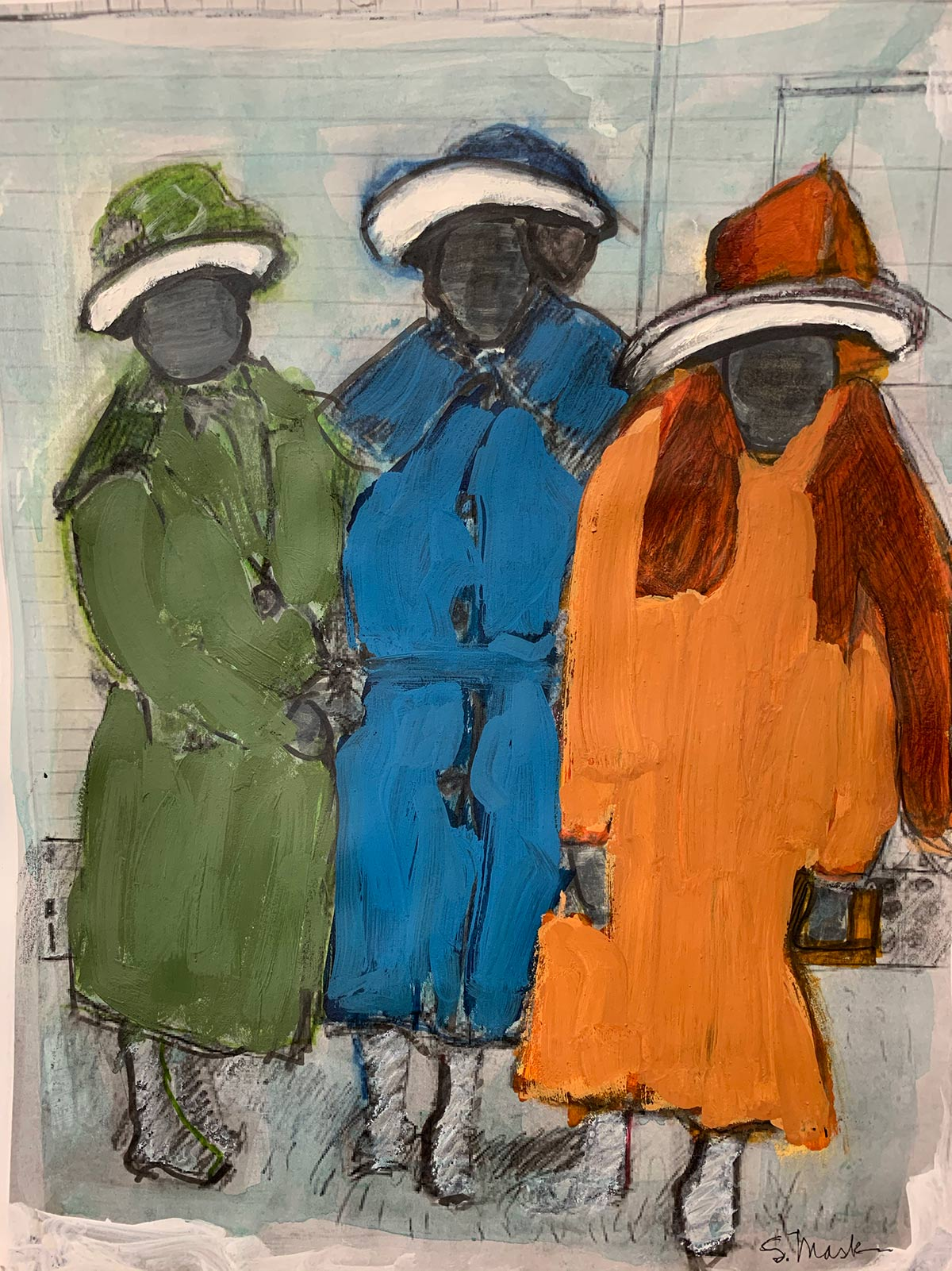 Susan Mask, Three Bright Coats